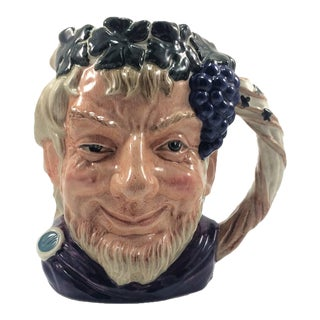 1958 English Royal Doulton Bacchus Character Jug