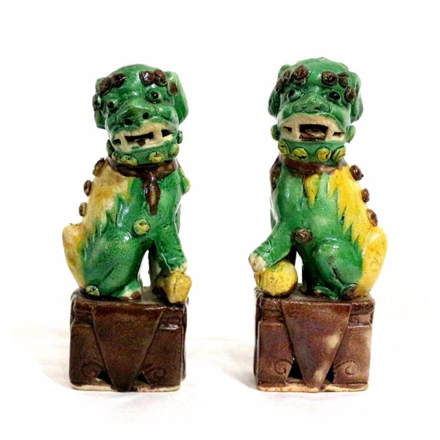 Foo Dog Guardians Good Luck Dogs - A Pair - Image 1 of 5
