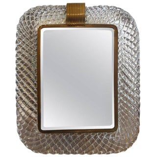 Murano Glass and Bronze Vanity Mirror Circa 1940