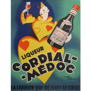 1936 French Vintage Liquor Poster Cordial Medoc