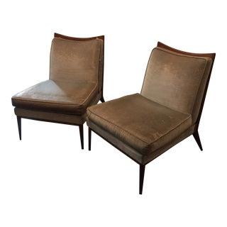 Paul McCobb Armless Slipper Lounge Chairs - a Pair