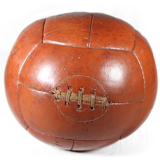 Early 20th-C. Leather Medicine Ball