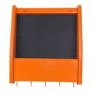 Orange Mail Sorter Cork Board Hook Office Organizer Entryway Wall Hanging Shelf