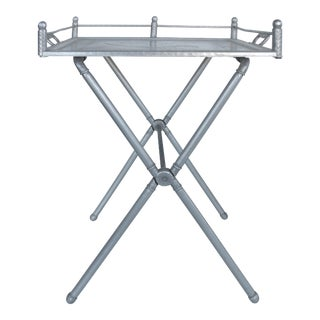 Everlast Hand-forged Aluminum Bar Tray on Stand- Set of 2