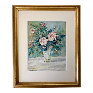 Sam Pearson Vintage Floral Still Life Painting, 1952