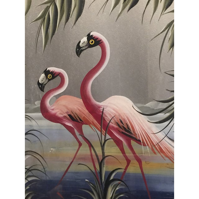 Hollywood Regency Flamingo Art - Image 6 of 6