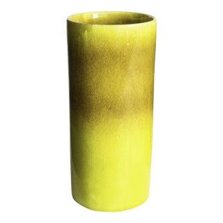 Mid-Century Italian Yellow Vase