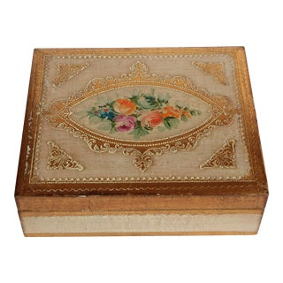 Floral Florentine Wood Hinged Box