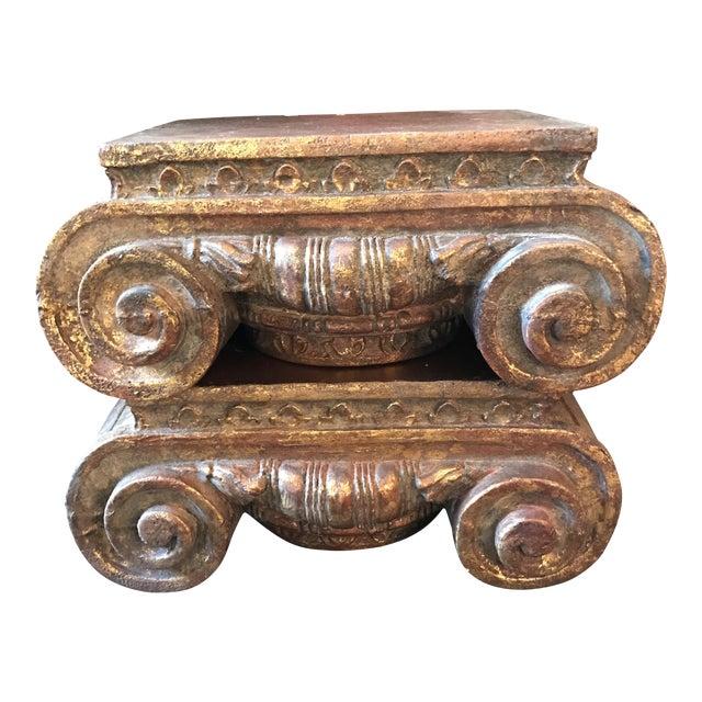 Corinthian Column Cap Pedestals - A Pair - Image 1 of 7