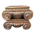 Image of Corinthian Column Cap Pedestals - A Pair