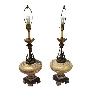 Mid-Century Table Lamps - A Pair