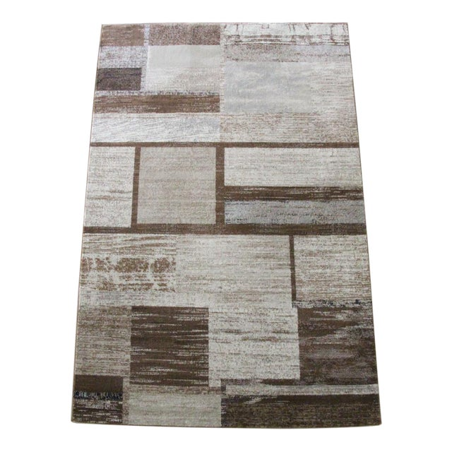 "Brown Neutral Rug - 5'3"" X 7'7"" - Image 1 of 5"