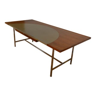 Edward Wormley for Dunbar Mid-Century Modern Executive Leather Top Desk