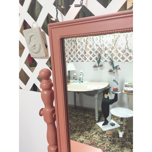Antique Pink Painted Shabby Chic Vanity & Mirror - Image 5 of 11