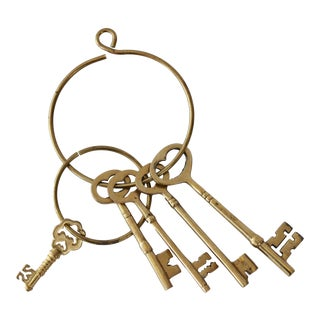 Brass Skeleton Keys - Set of 5