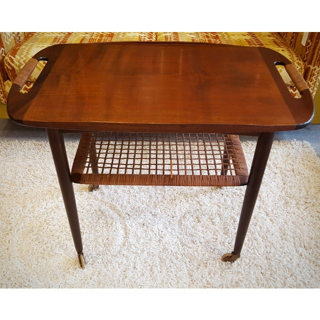 Mid-Century Danish Modern Cocktail Cart by Selig - Image 2 of 10