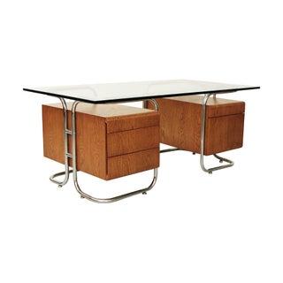 Rare Pace Collection Tubular Chrome Executive Desk