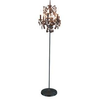 Iron & Smoke Crystal Floor Lamp