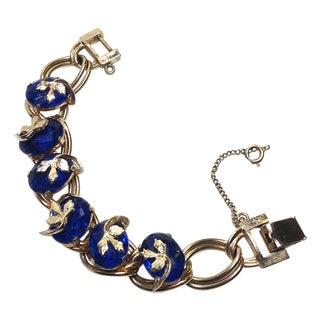 Kafin Blue Rhinestone Bracelet