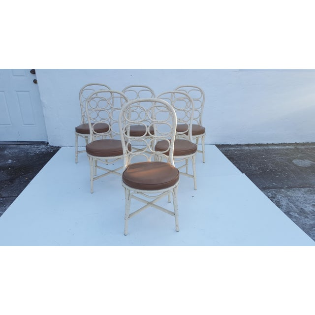 Franco Albini Inspired Rattan Dining Chairs - Set Of 6 - Image 3 of 11