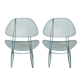 Tempestini Mid-Century Outdoor Clam Chairs - Pair
