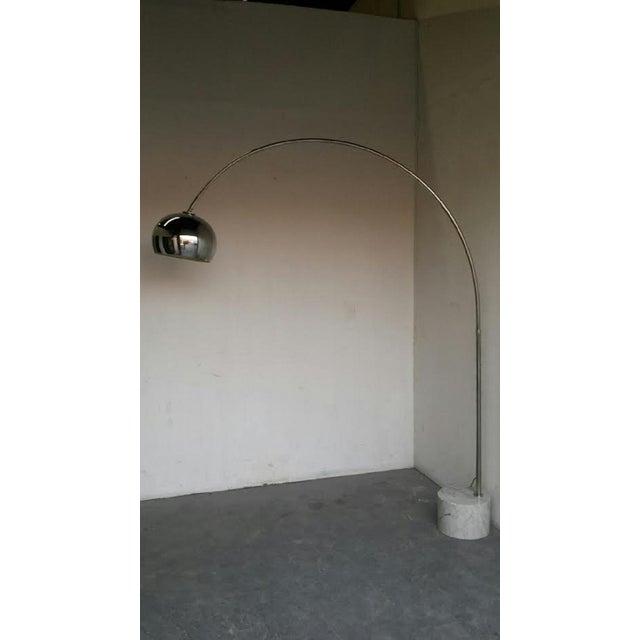 Image of Mid-Century Italian Arc Floor Lamp