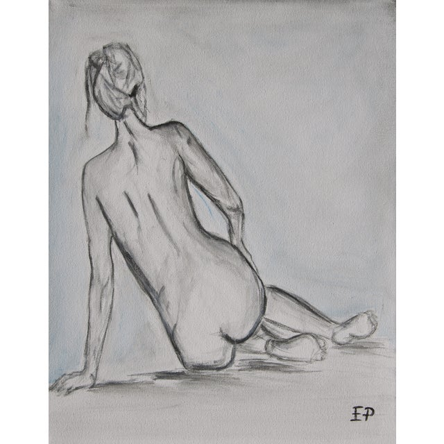 Image of Nude Laying Down- Female Figurative Painting