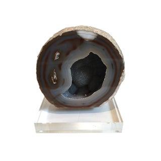 Gray Geode on Acrylic Base