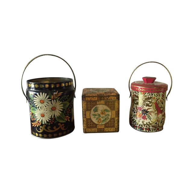 Rustic European Tins - Set of 3 - Image 1 of 10