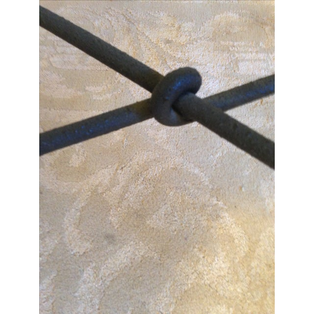 Image of Twisted Iron and Glass Coffee Table Ethan Allen