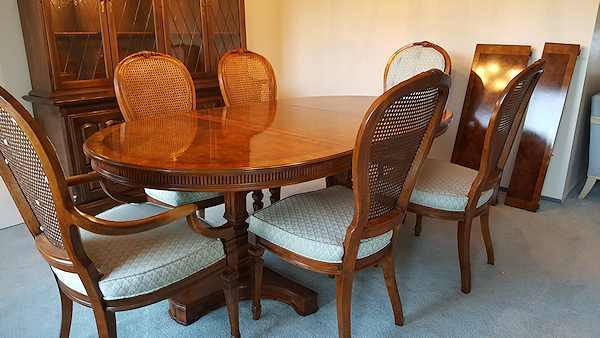 drexel heritage solid mahogany dining set s 11 chairish drexel heritage dining room set table w 2 leaves 10