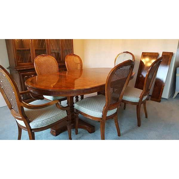 drexel heritage solid mahogany dining set s 11 chairish