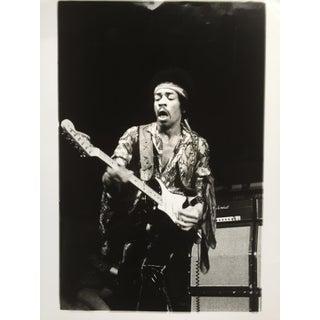 1970 Vintage Jimi Hendrix Black & White Glossy Photo by Jørgen Angel
