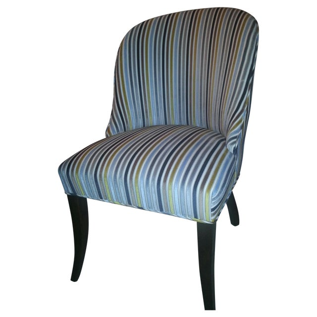 Velvet Stripe Custom Dining Room Chair