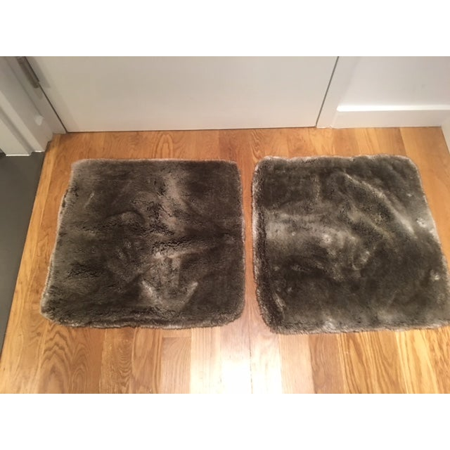 Restoration Hardware Faux Fur Pillow Covers - Pair - Image 2 of 4