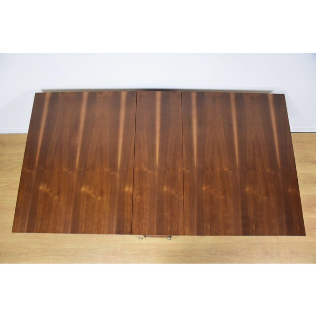 Walnut Dining Table and Self Storing Chairs - Set of 5 - Image 2 of 11