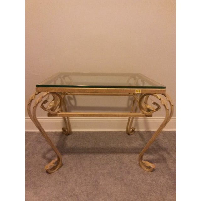 Antique Gold Leaf Coffee Table Chairish