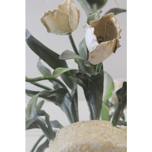 Vintage Ceramic Tulips Chandelier - Image 4 of 6