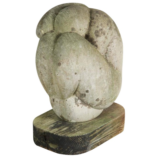 Mid-Century Figural Stone Sculpture - Image 1 of 8