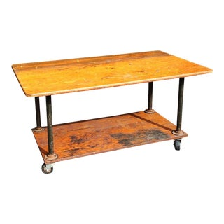 Simpson Industrial Textile Factory Cart Table
