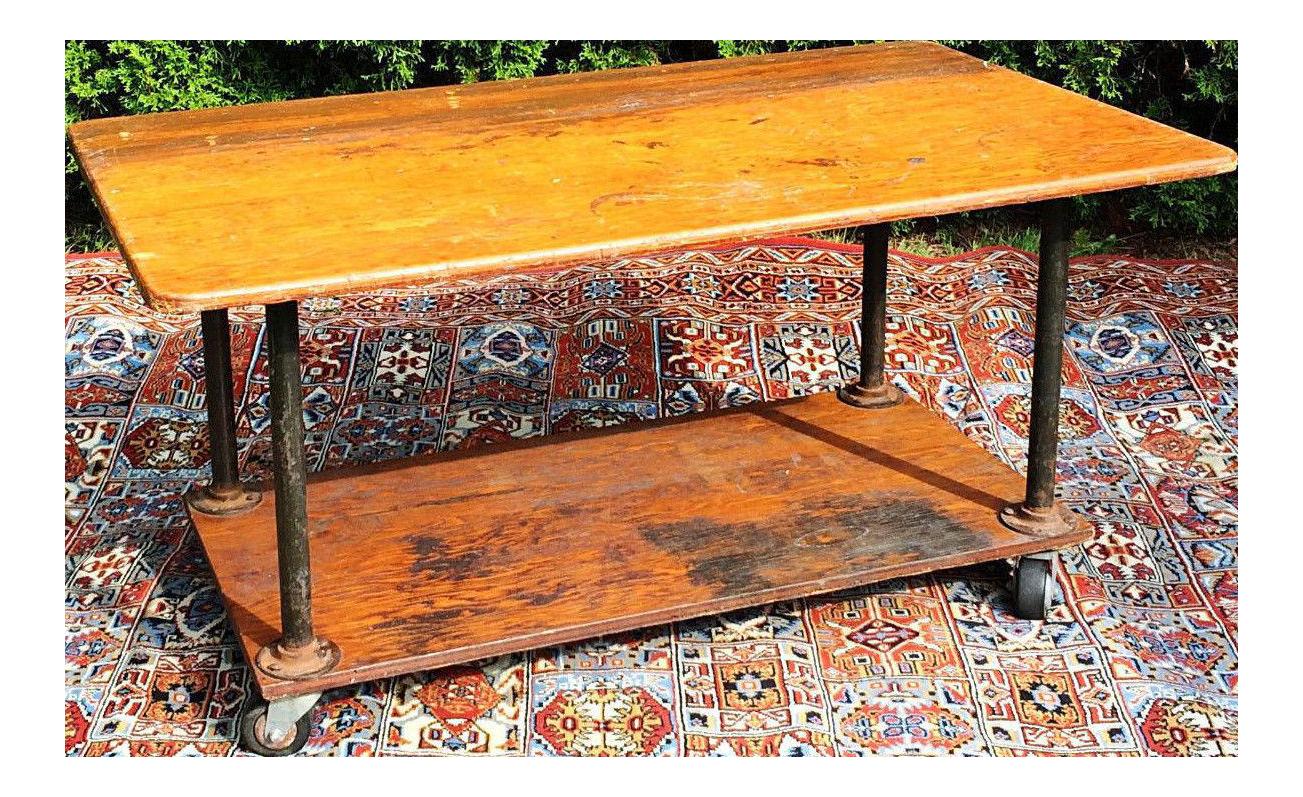 simpson industrial textile factory cart table