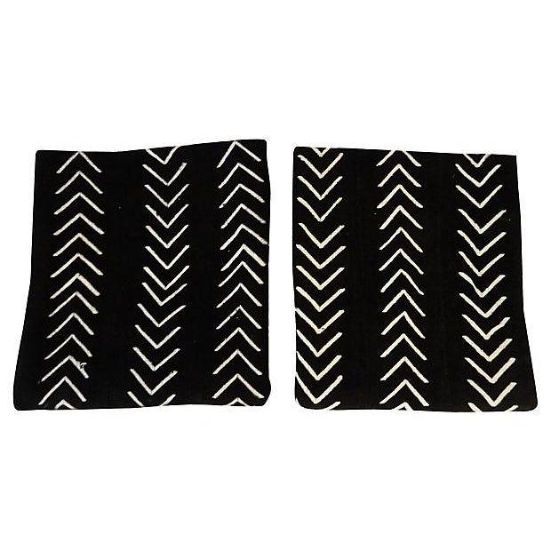 Malian Black & White Mud Cloth Textiles - A Pair - Image 7 of 9