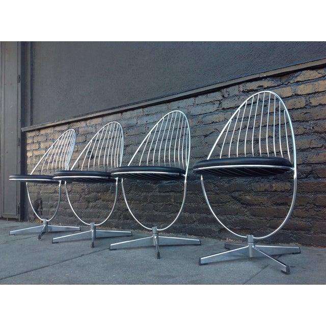 Dahlens Dalum Swedish Chrome Chairs - Set of 4 - Image 3 of 5