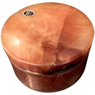 Round Italian Alabaster Lidded Box