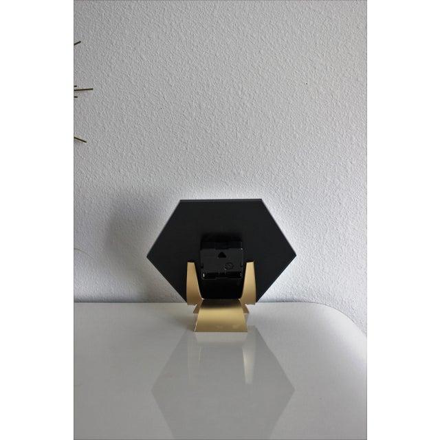 Modern Pink/Black SoLo Agate Hex Desk Clock - Image 8 of 8