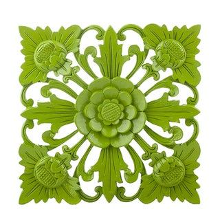 Retro Green Wall Square, Medium