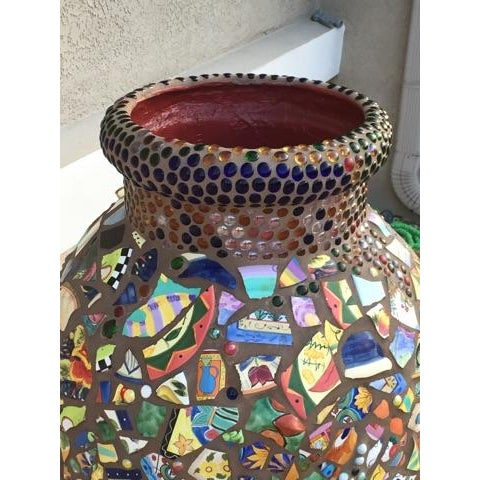 Decorative Mosaic Urn - Image 4 of 6