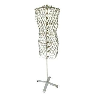 Industrial Modernist Wire Dress Form Mannequin