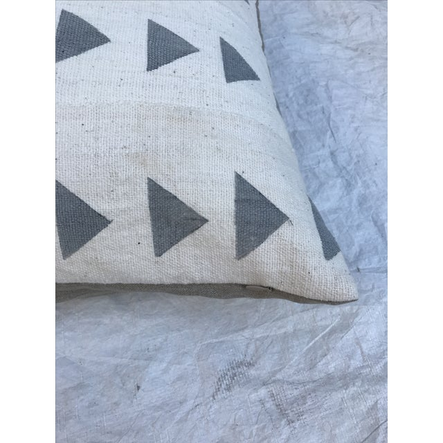 Grey & White Arrow Mud Cloth Textile Pillow - Image 4 of 6