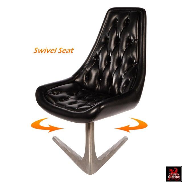 Chromcraft Sculpta Dining Room Set with Six Black Swivel Chairs - Image 3 of 10